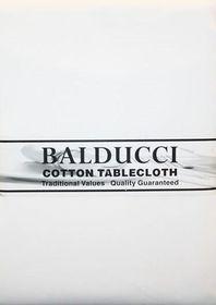 Balducci - Cotton White Square Tablecloth - 4 Seater