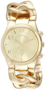 U.S. Polo Assn. Women's USC40069 Gold-Tone Link Bracelet Watch (parallel import)