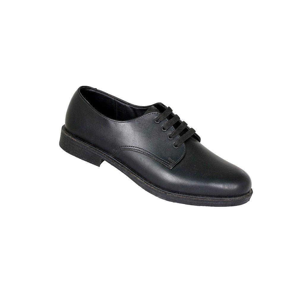 Toughees Hank Boys Lace Up Genuine Leather School Shoe - Black ...