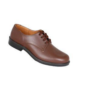 Toughees Hank Boys Lace Up Genuine Leather School Shoe - Brown