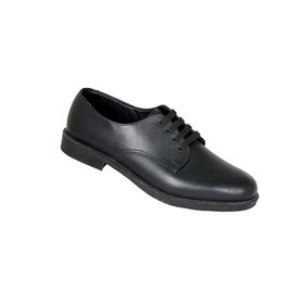 Toughees Hank Youths Lace Up Genuine Leather School Shoe - Black