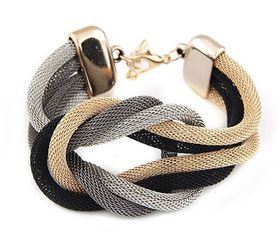 Urban Charm Boldly Glam Infinite Loop Metallic Crossover Statement Bracelet