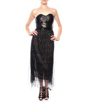 Snow White Strapless Glitzy Sweetheart Gown - Black (Size: S/M)