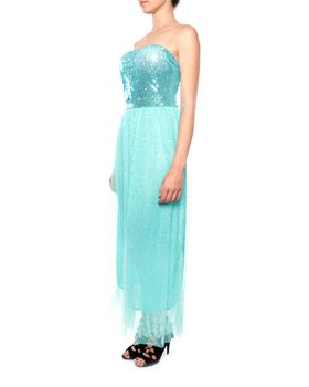 Snow White Strapless Glitzy Sweetheart Gown - Turqouise (Size: M/L)