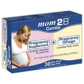 Mom 2 B - Supplement Capsules + Omega Capsules Combo Pack - 30s + 30s