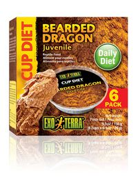 Exo-Terra -  Bearded Dragon 6 x 0.025kg Diet Cups - Juvenile