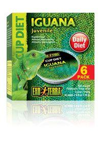 Exo-Terra -  Iguana 6 x 0.025kg Diet Cups - Juvenile