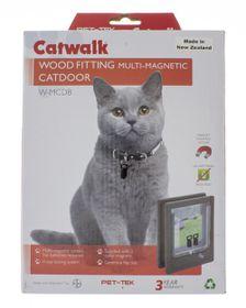Dogwalk - Pet-Tek Cat Door Wood Fitting Multimagnetic