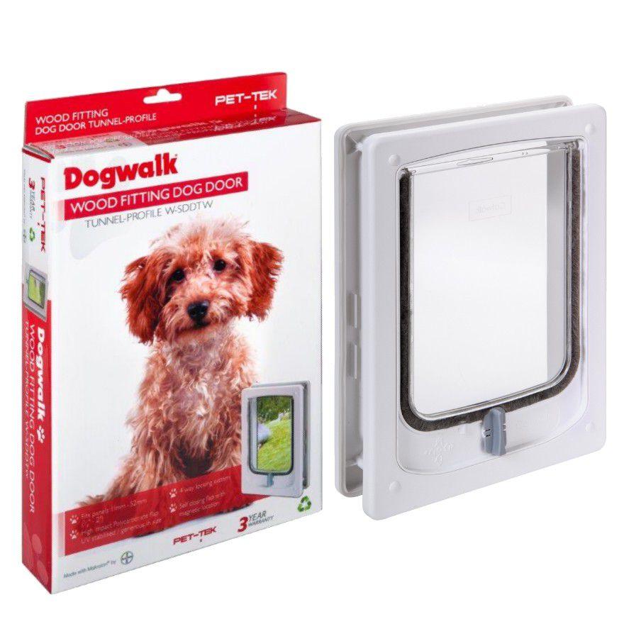 Dogwalk Pet Tek Dog Door Wood Fitting Tunnel Small White Buy