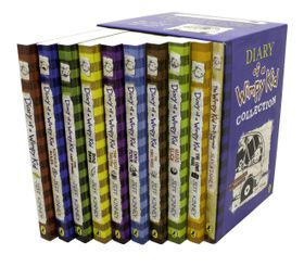 Diary of a Wimpy Kid 10 Book Set Collection