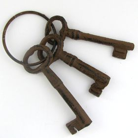 Pamper Hamper - Cast Iron Key Set - 3 Keys