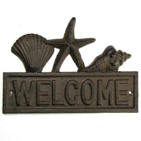 Pamper Hamper - Cast Iron Welcome Plaque