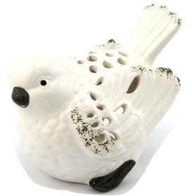 Pamper Hamper - Ceramic Bird Candle Holder - White