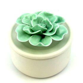 Pamper Hamper - Flower Trinket Box- Teal