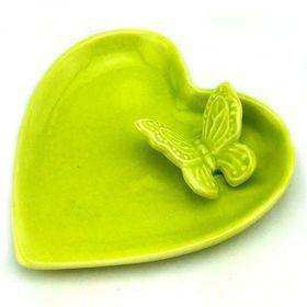 Pamper Hamper - Ceramic Heart Tray - Green