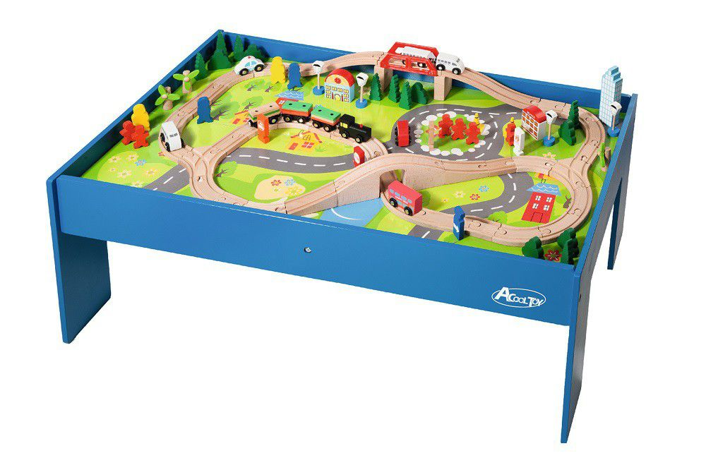 Jeronimo 100 Piece Train Set With Table ...  sc 1 st  Takealot.com : train set and table - pezcame.com