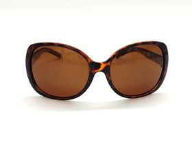 POLAR UP Brown Oversized Sunglasses with Polarized lens