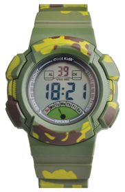 Cool Kids Digital Mid-size 30M WR - Camo Green