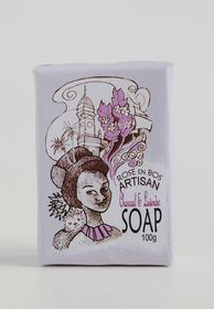 Rose en Bos Lavender & Charcoal Soap Bar