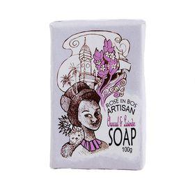 Rose en Bos Lavender & Charcoal Soap Bar