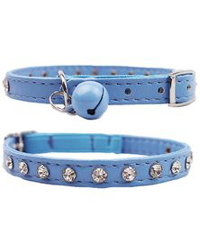 Doggie Hillfigher - Diamante Collar - Blue - Extra-Small