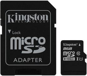 Kingston 8GB MicroSDHC Class 10 UHS-I