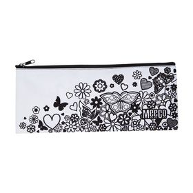 Meeco Doodle Me Large (34cm) Pencil Bag with Zip - Junior Girls