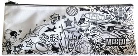 Meeco Doodle Me Large (34cm) Pencil Bag with Zip - Junior Boys