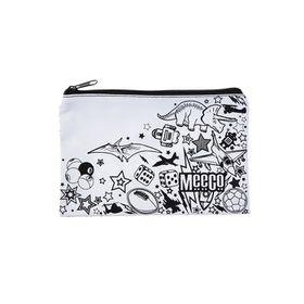Meeco Doodle Me Small (21cm) Pencil Bag with Zip - Junior Boys