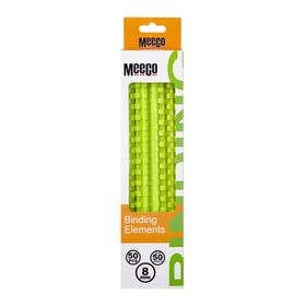 Meeco 8mm Binding Elements 50s - Green