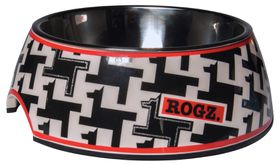 Rogz - 2-in-1 Houndstooth Bubble Dog Bowl - Extra-Large