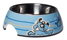 Rogz Pupz 2-in-1 Blue Ringo Puppy Bubble Bowl - Medium