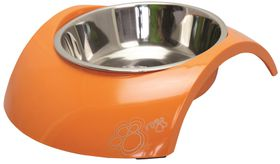 Rogz - 2-in-1 700ml Luna Dog Bowl - Orange