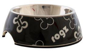 Rogz - 140x45mm Bubble Bowl - Black Bones