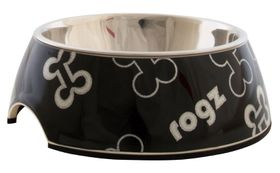 Rogz - 175x65mm Bubble Bowl - Black Bones