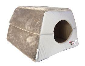Rogz - Catz Igloo Bed 410mm x 410mm x 300mm - Grey Tail