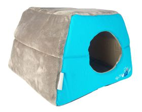 Rogz - Catz Multi-Purpose Blue Floral Igloo Bed - Medium