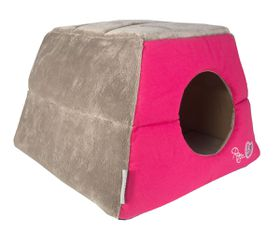 Rogz - Catz Multi-Purpose Pink Candystripe Igloo Bed - Medium