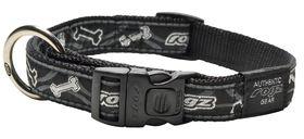 Rogz - Fancy Dress Black Bone Dog Collar - Large
