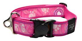 Rogz Fancy Dress Pink Paw Dog Collar - 2XL