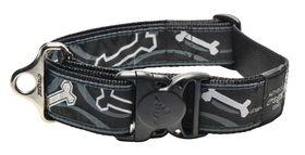 Rogz - Fancy Dress Black Bone Dog Collar - 2 x Extra-Large