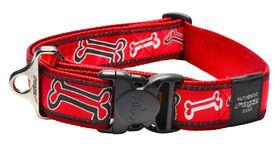 Rogz - Fancy Dress 40mm Dog Collar - Red Bone