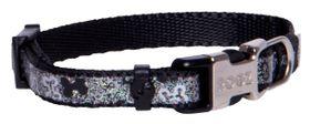 Rogz - 8mm Side Release Dog Collar - Black Bones