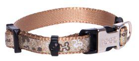 Rogz - 8mm Side Release Dog Collar - Brown Bones