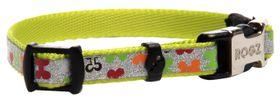 Rogz - 8mm Side Release Dog Collar - Multi Bones