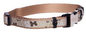 Rogz - 13mm Side Release Dog Collar - Brown Bone