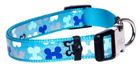 Rogz Lapz Trendy Blue Bones Side Release Dog Collar - Medium