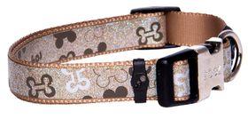 Rogz - 16mm Side Release Dog Collar - Brown Bone