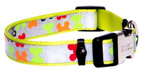Rogz - 16mm Side Release Dog Collar - Multi Bone