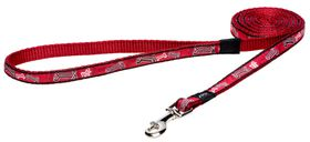 Rogz Fancy Dress Red Rogz Bone Fixed Dog Lead - Small